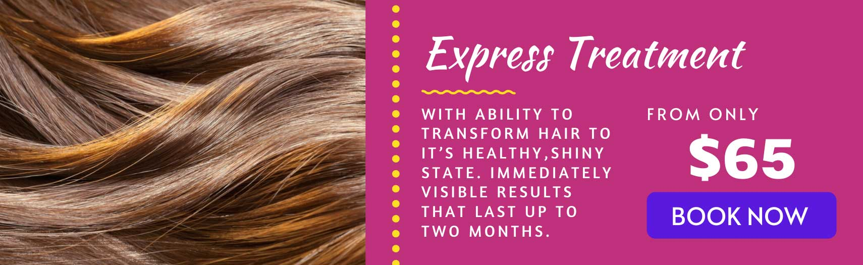 Express treatment banner
