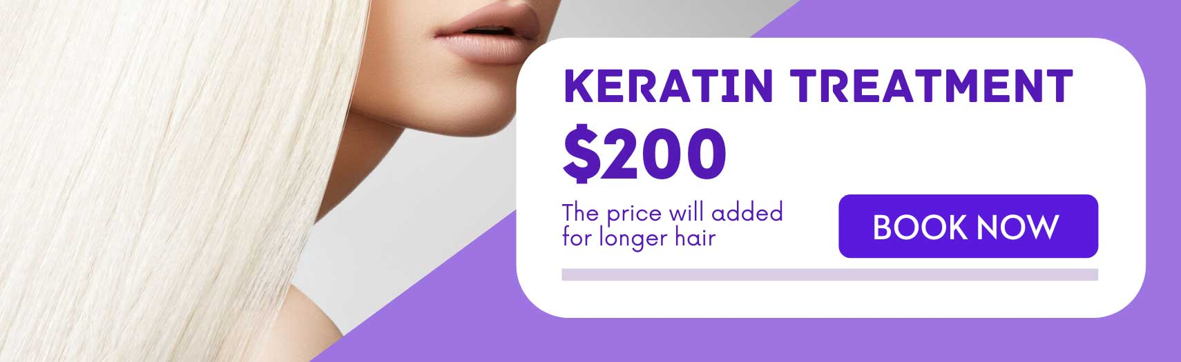 Keratin treatment banner