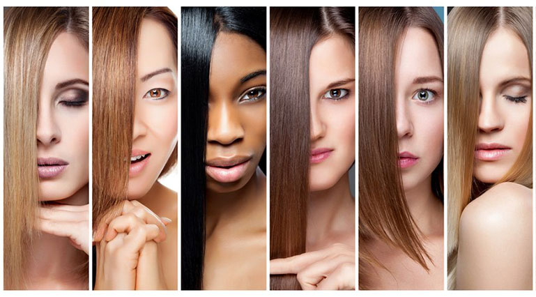 Women With Different Skin Tone And Eyes