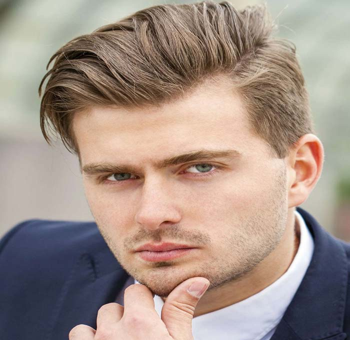 Hairstyle for Boys on Round Face