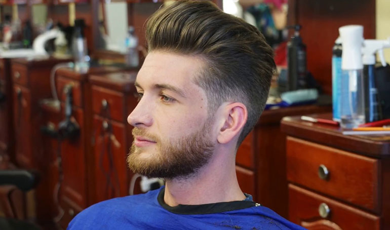 Blow out hairstyle for men