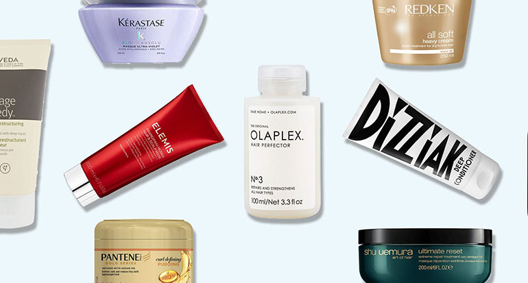 Different types of hair mask and conditioners